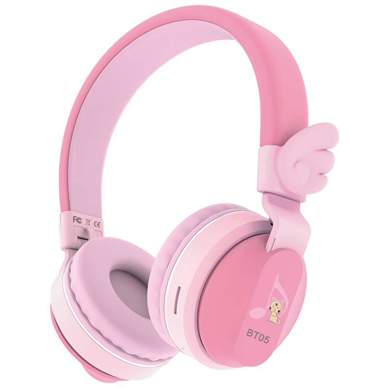 Riwbox Kids Headphones BT05 Wings Foldable Headphones Wireless Bluetooth Over Ear 85dB/103db Volume