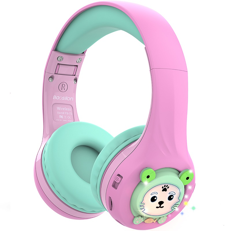Riwbox Baosilon FB-7S Bluetooth Headphones with LED for Kids