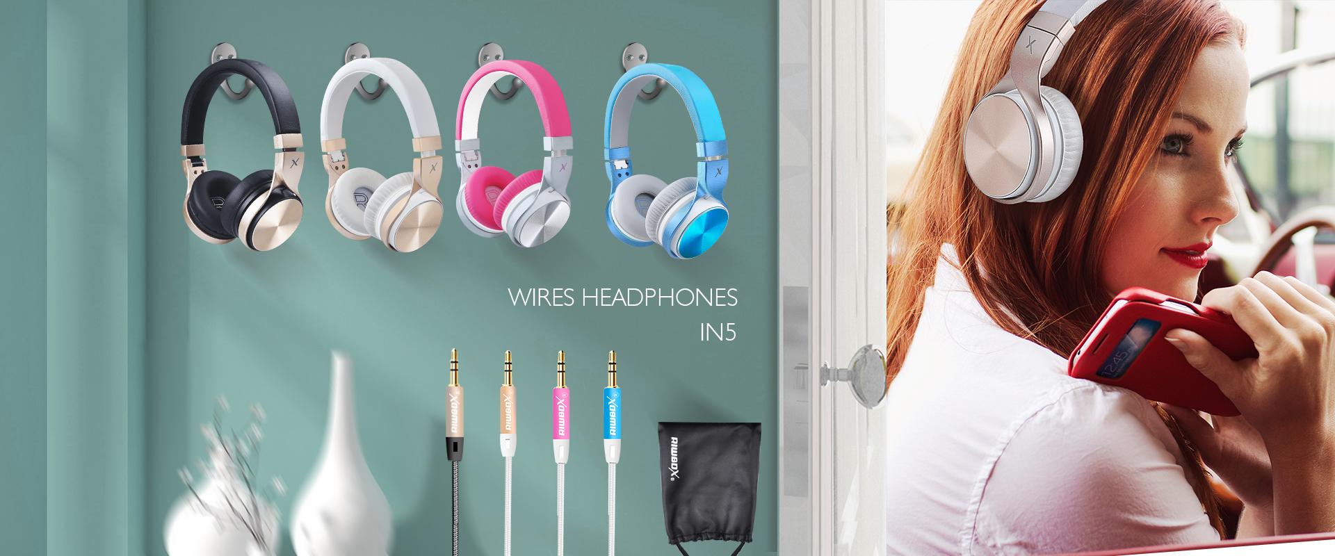 Riwbox Wired Foldable Headphones IN5